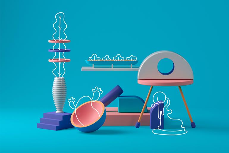 İllüstrasyon ve 3D'nin Birleşimi