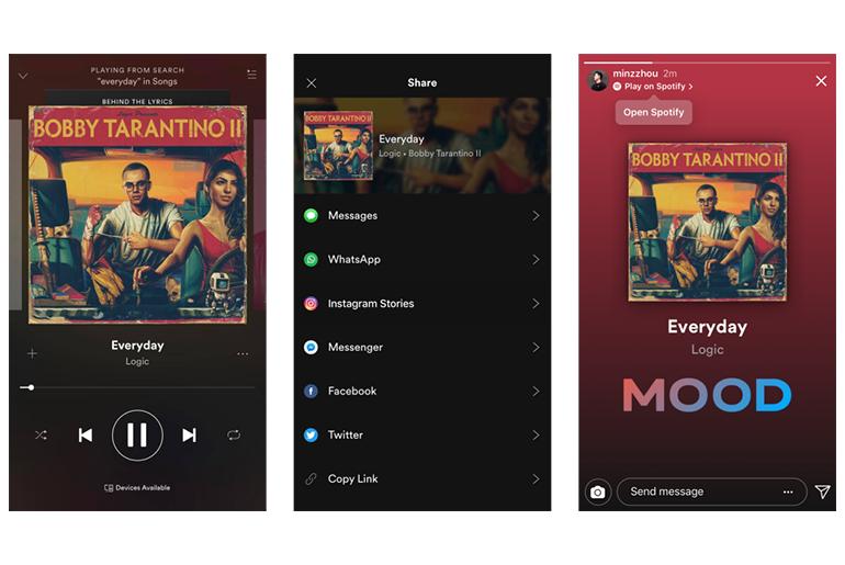 Instagram'a Spotify Desteği